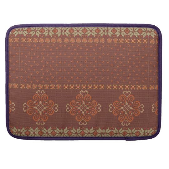 Christmas knitted pattern sleeve for MacBook pro