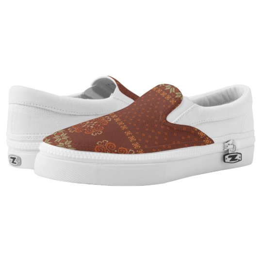 Christmas knitted pattern slip on shoes