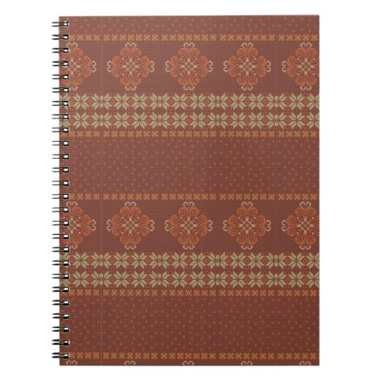 Christmas knitted pattern spiral notebook