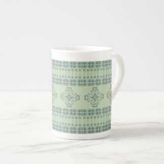 Christmas knitted pattern tea cup
