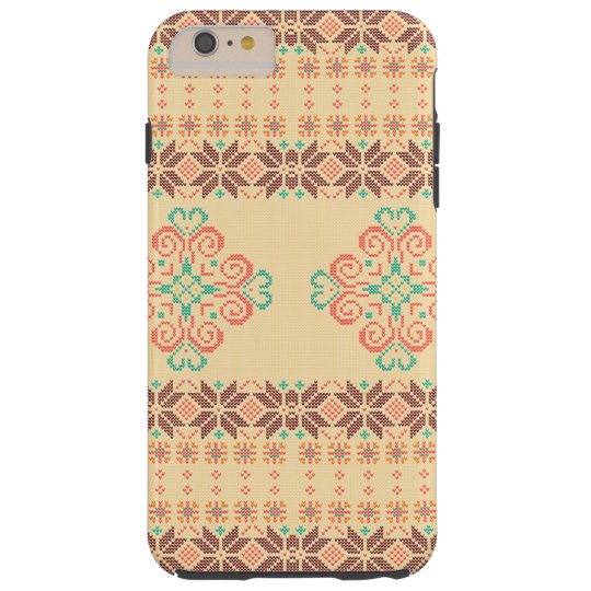 Christmas knitted pattern tough iPhone 6 plus case