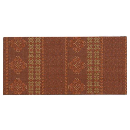 Christmas knitted pattern wood USB flash drive