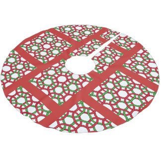 Christmas Knot Brushed Polyester Tree Skirt