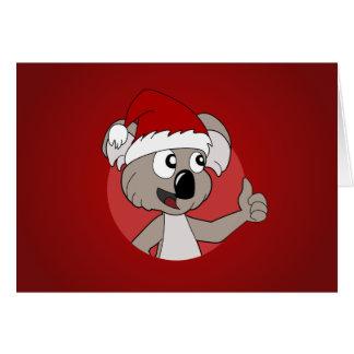 Christmas koala cartoon card