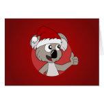 Christmas koala cartoon greeting cards