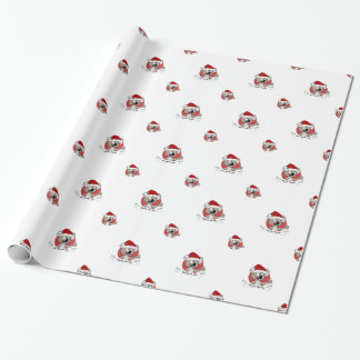 Christmas koala cartoon wrapping paper