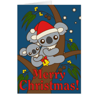 Christmas Koalas Card