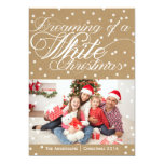 Christmas Kraft White Christmas Photo Card Personalised Announcement