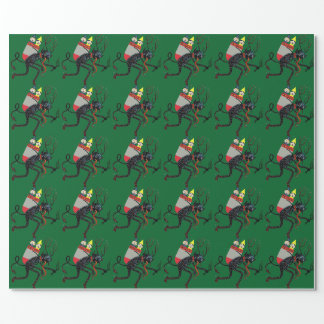 Christmas Krampus Vintage Wrapping Paper