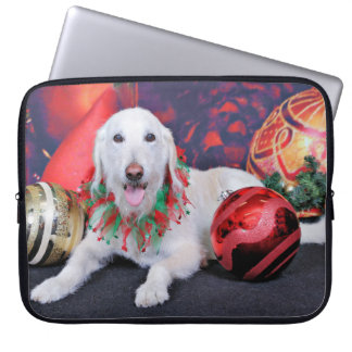 Christmas - LabraDoodle - Izzy Computer Sleeves