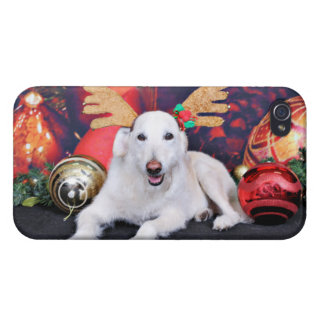Christmas - LabraDoodle - Izzy iPhone 4/4S Cover
