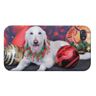 Christmas - LabraDoodle - Izzy iPhone 4 Cases