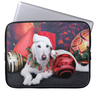 Christmas - LabraDoodle - Izzy Laptop Sleeves
