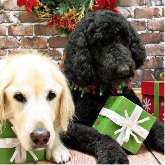 Christmas - Labradoodle Miller - Golden Retriever Photo Cut Outs