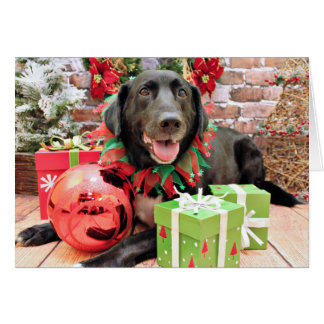 Christmas - Labrador - Lennon Greeting Card