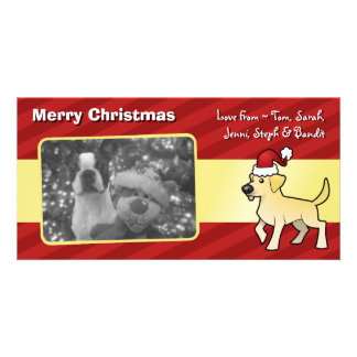 Christmas Labrador Retriever Picture Card