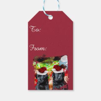 Christmas labrador Retriever puppy gift tags