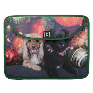 Christmas - Labrador X Cheyanne Cocker X Sundance MacBook Pro Sleeves