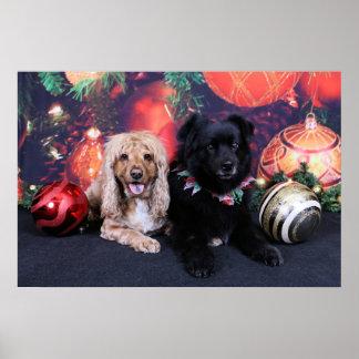 Christmas - Labrador X Cheyanne Cocker X Sundance Print
