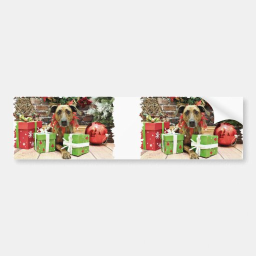 Christmas - Labrador X - Guiness Bumper Sticker