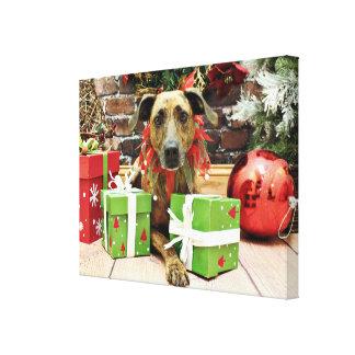 Christmas - Labrador X - Guiness Gallery Wrap Canvas