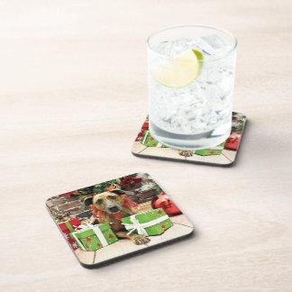 Christmas - Labrador X - Guiness Drink Coaster
