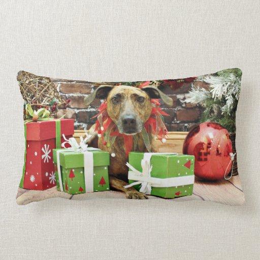 Christmas - Labrador X - Guiness Throw Pillows