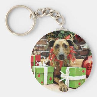 Christmas - Labrador X - Guiness Key Chain