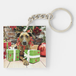 Christmas - Labrador X - Guiness Double-Sided Square Acrylic Key Ring