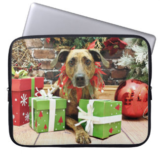 Christmas - Labrador X - Guiness Laptop Computer Sleeves