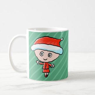 Christmas Lady Dressed as Santa Coffee Mugs