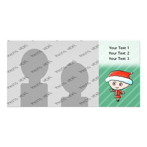 Christmas Lady Dressed as Santa Personalized Photo Card