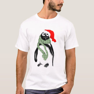 Christmas Lady Penquin T-Shirt