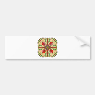 Christmas Ladybugs Bumper Sticker