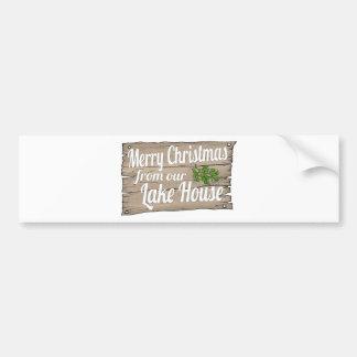 christmas lake house bumper stickers