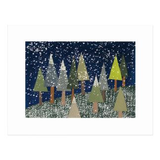 Christmas landscape postcard