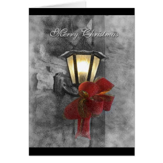 Christmas Lantern in the Snow Greeting Card