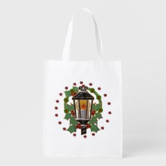 Christmas Lantern Stain Glass Art Deco