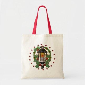 Christmas Lantern Stain Glass GIFT Budget Tote Bag