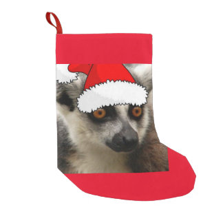 Christmas Lemur Small Christmas Stocking