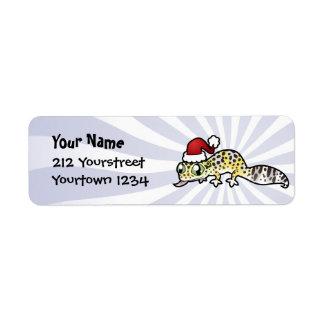 Christmas Leopard Gecko Return Address Label