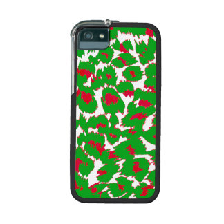 Christmas Leopard Spots Pattern iPhone 5/5S Cover