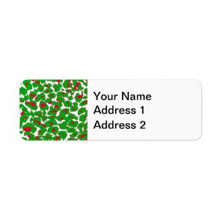 Christmas Leopard Spots Pattern Return Address Label