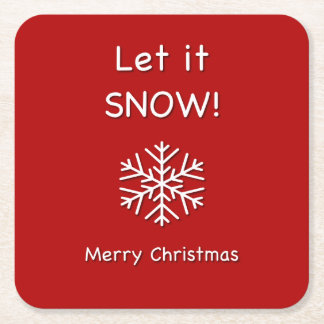 Christmas Let it Snow Drinks Coasters