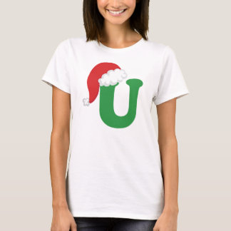 Christmas Letter U Alphabet T-Shirt