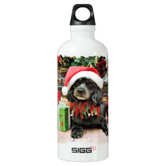 Christmas - LhasaPoo - Leo Water Bottle