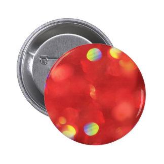 Christmas Light Bokeh 6 Cm Round Badge