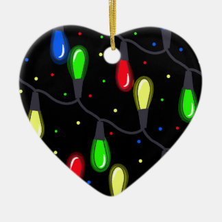 Christmas light ceramic heart decoration