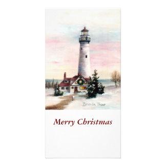 Christmas Light Christmas Photo Card