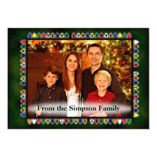 Christmas Light Frame Family Photo 13 Cm X 18 Cm Invitation Card